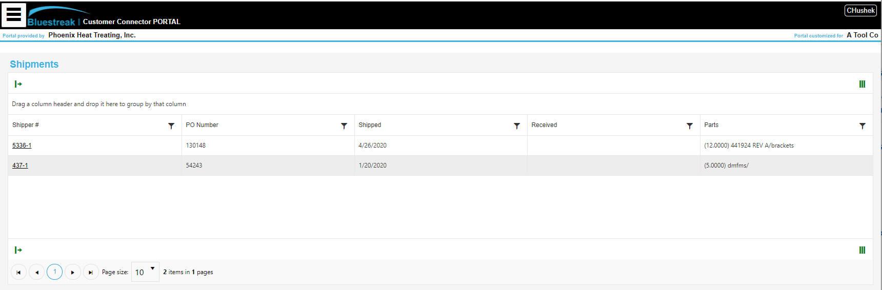 customer portal ERP software solution